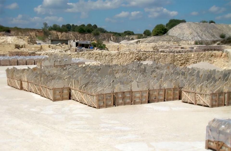 Bio Baumaterial Solnhofener Platten ist ein reiner Kalkstein