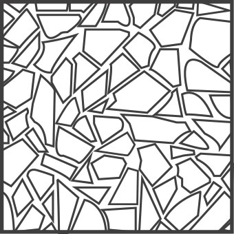 Solnhofener Formate - Polygonal