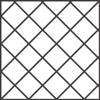 Solnhofener Formate - Quadrate Diagonal