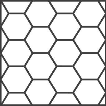 Solnhofener Formate - Sechseck